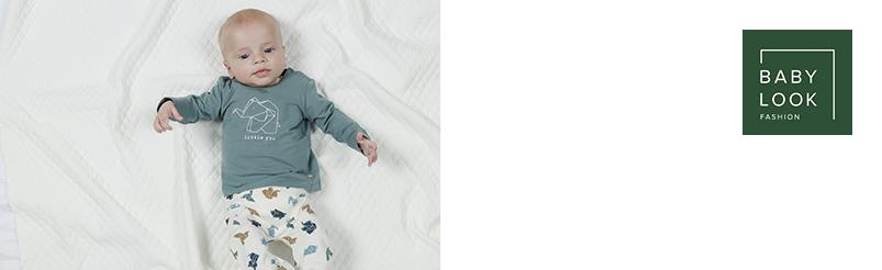 Babylook Broek  Origami Blue