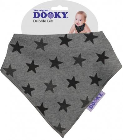 Dooky Dribble Bib Grey Star