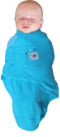 Bo Jungle Baby Wrap Blue Bear Small