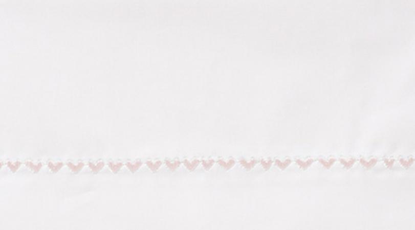 Cottonbaby Wieglaken Hartjesrand Babyroze<br/ > 75 x 90 cm