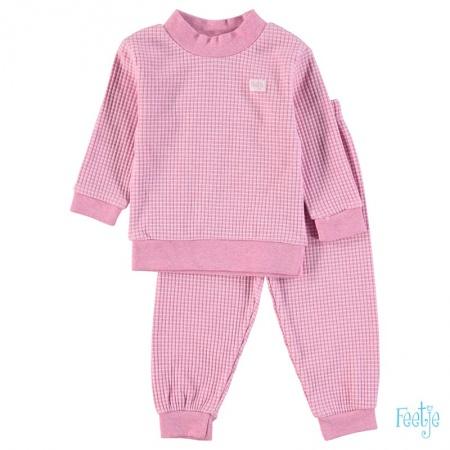 Feetje Pyjama Wafel Rozemelee