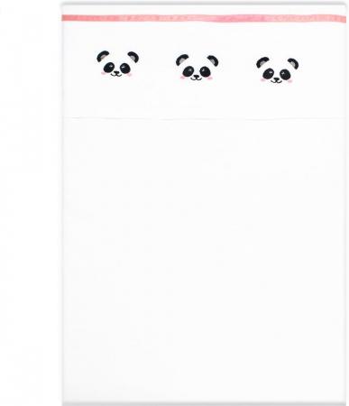 Fabs World Laken Panda Koraal Borduur<br> 75 x 100 cm
