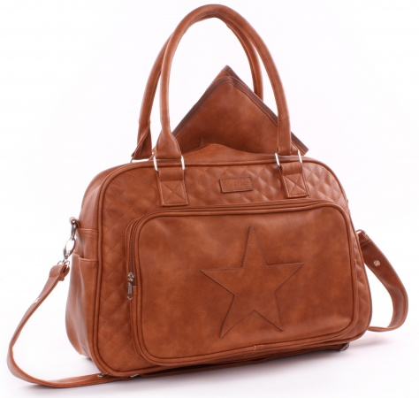 Kidzroom Diaperbag Coloured Stars <br> Chantal Cognac