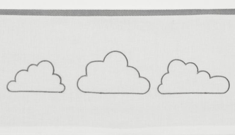 Meyco Ledikantlaken Little Clouds Grijs <br> 100 x 150 cm