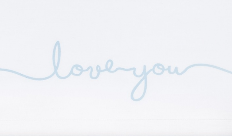 Jollein Laken Love You Soft Blue 75 x 100 cm