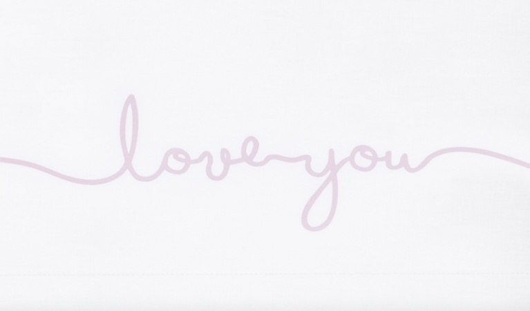 Jollein Laken Love You Pink 75 x 100 cm