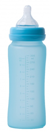Bo Jungle Fles Glas 300ml Turquoise