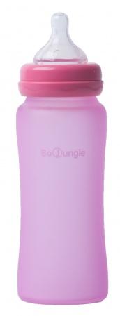 Bo Jungle Fles Glas 300ml Pink