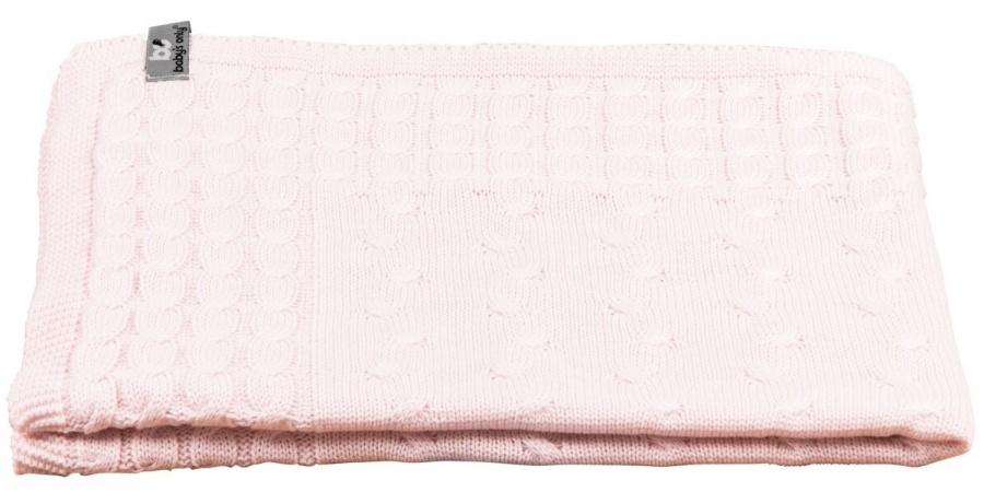 Baby's Only Wiegdeken Kabel Classic Roze 70 x 95 cm
