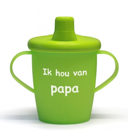KiddyBoo Anti-Lekbeker I Love Papa Lime