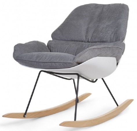 Childhome Schommelstoel Rocking Chair Lounge Wit/Grijs