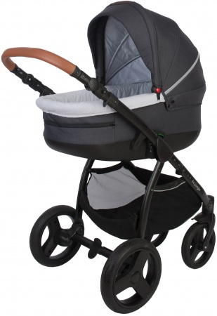 Bo Jungle B-Zen 4 In 1 Stroller Dark Grey/Black Inclusief Bijpassende Reistas