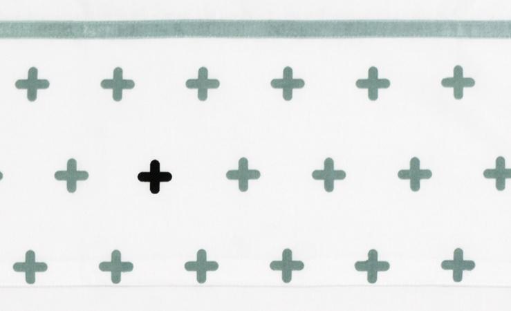 Briljant Ledikantlaken Crizzzcrozzz Stonegreen<br> 100 x 150 cm