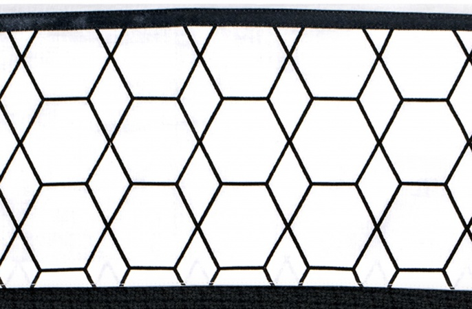 Briljant Wieglaken Grid Black/White<br> 75 x 100 cm