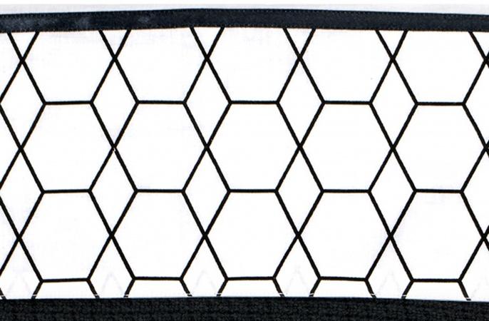 Briljant Ledikantlaken Grid Black/White<br> 100 x 150 cm