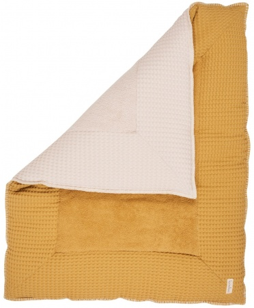 Koeka Boxkleed Wafel Amsterdam Ochre/Pebble<br> 75 x 95 cm