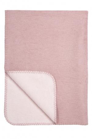 Meyco Ledikantdeken Duo Warm Pink/L.Roze <br> 100 x 150 cm