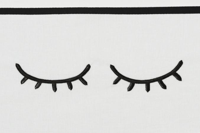 Meyco Ledikantlaken Sleepy Eyes Zwart <br> 100 x 150 cm