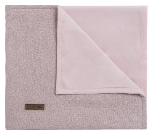 Baby's Only Wiegdeken Soft Sparkle Zilver-Roze Mêlee 70 x 95 cm