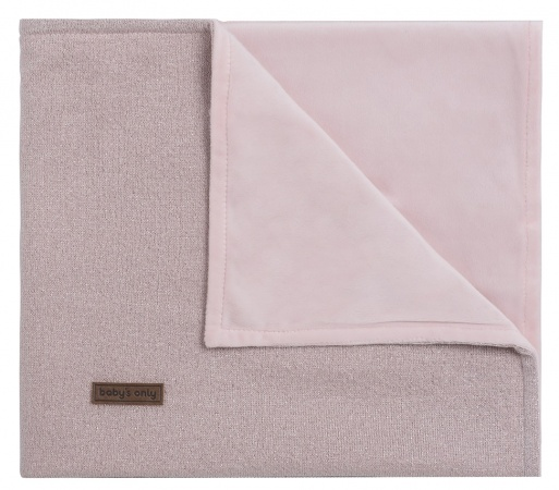 Baby's Only Ledikantdeken Soft Sparkle Zilver-Roze Mêlee 100 x 135 cm