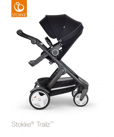 Stokke® Trailz™ Black Classic Wheels Black with Black Leatherette Handle