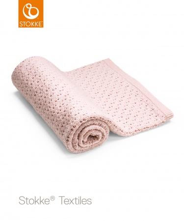 Stokke® Deken Pink Merino Wool <br> 80 x 80 cm