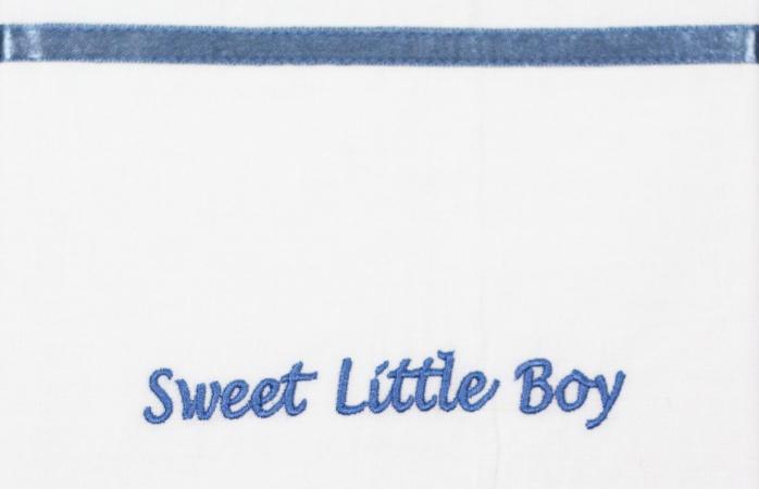 Briljant Wieglaken Sweet Little Boy Blauw <br> 75 x 100 cm