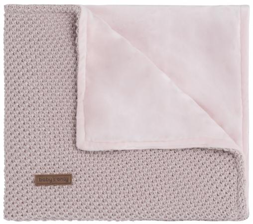 Baby's Only Ledikantdeken Soft Flavor Sparkle Zilver-Roze Mêlee 100 x 135 cm