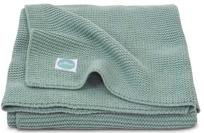 Jollein Ledikantdeken Basic Knit  Forest Green <br>100 x 150 cm