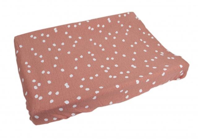 Briljant Aankleedkussenhoes Spots Grey Pink