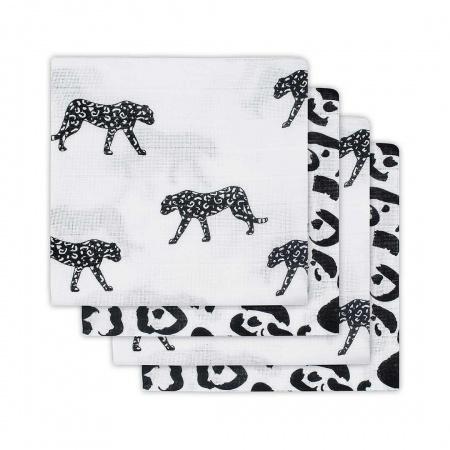 Jollein Hydrofiele Luiers (4 stuks) <br> Leopard