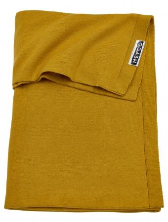 Meyco Deken Knit Basic Geel<br> 75 x 100 cm