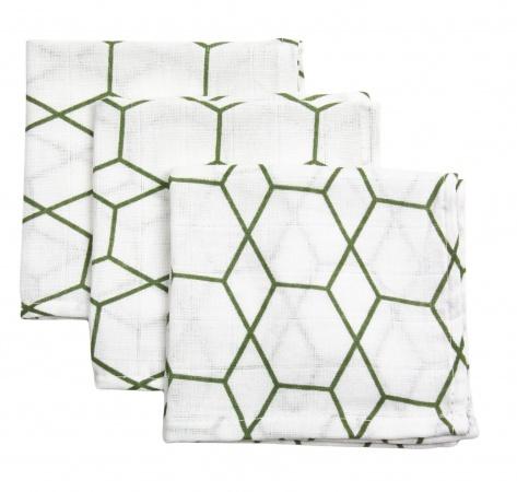 Briljant Hydrofiele Monddoekjes Grid Forest (3 stuks)