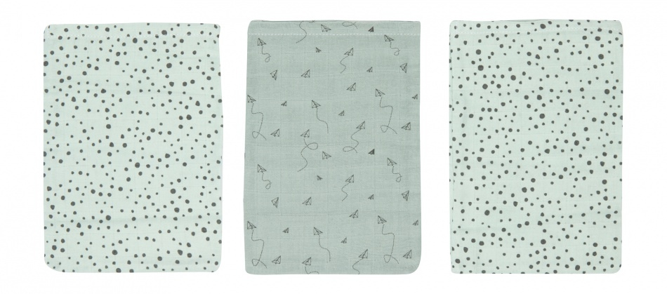 Bébé-Jou Washand Fabulous Paper Planes 3-Pack