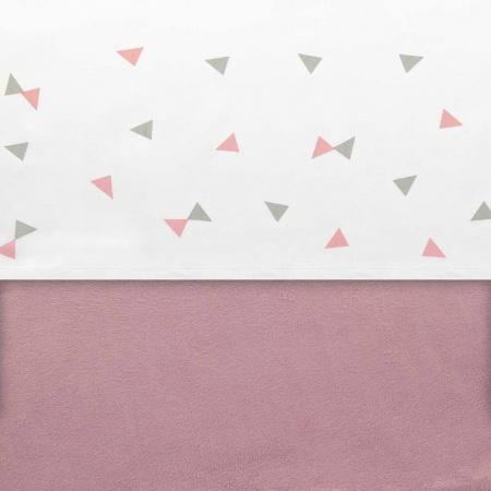 Little Lemonade Laken Triangle Grey/Pink <br>75 x 100 cm