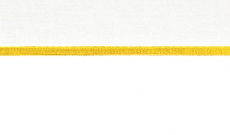 Briljant Ledikantlaken Bies Oker<br/ >100 x 150 cm