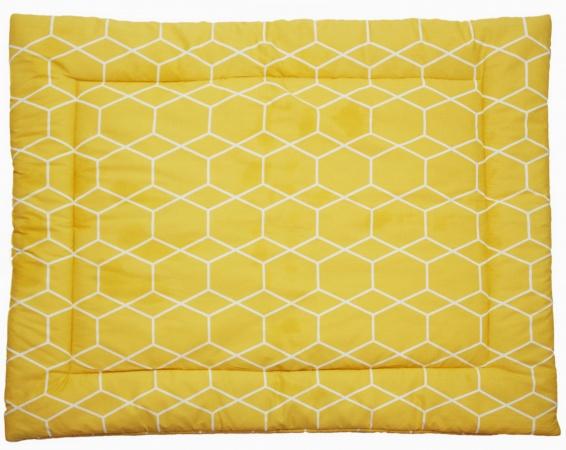 Briljant Boxkleed Grid Oker<br> 80 x 100