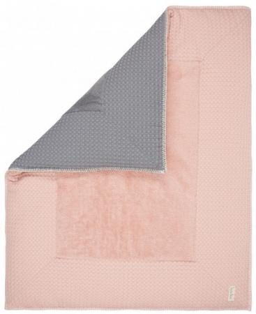 Koeka Boxkleed Wafel Amsterdam Shadow Pink <br> 75 x 95 cm