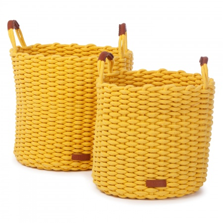 KidsDepot Mand L Korbo (2 st)<br> Yellow