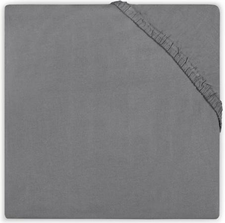 Babydump Collectie Ledikanthoeslaken Jersey Dark Grey 60 x 120 cm