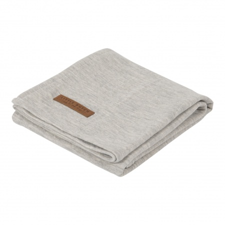 Little Dutch Swaddle Pure Grey <br> 120 x 120