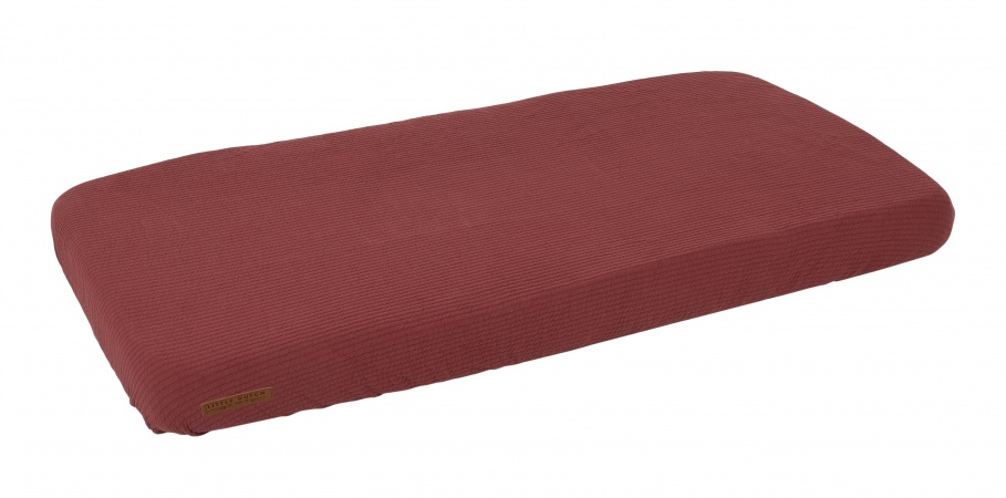 Little Dutch Ledikanthoeslaken Pure Indian Red<br> 60 x 120 cm
