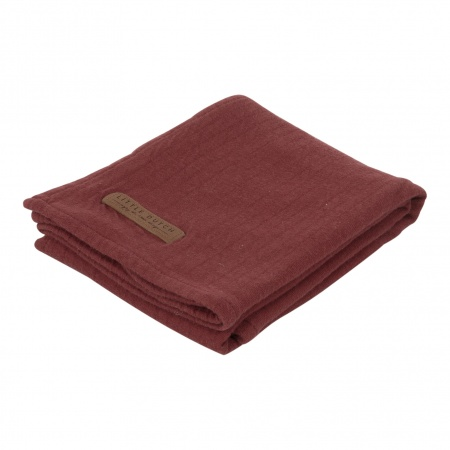 Little Dutch Swaddle Pure Indian Red <br> 120 x 120