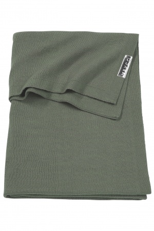 Meyco Ledikantdeken Knit Basic Forest Green<br> 100 x 150 cm