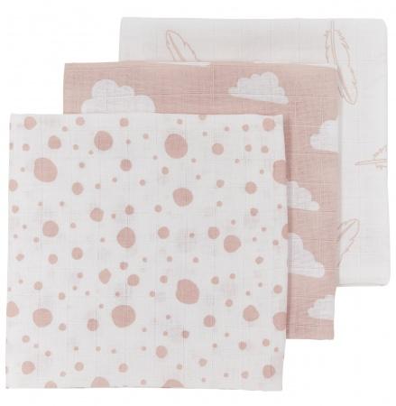 Meyco Monddoek Print Roze 3-Pack