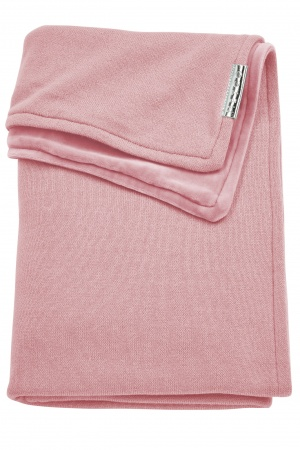 Meyco Deken Knit Basic Oudroze Met Velvet<br> 75 x 100 cm