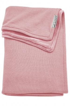 Meyco Ledikantdeken Knit Basic Oudroze Met Velvet<br> 100 x 150 cm