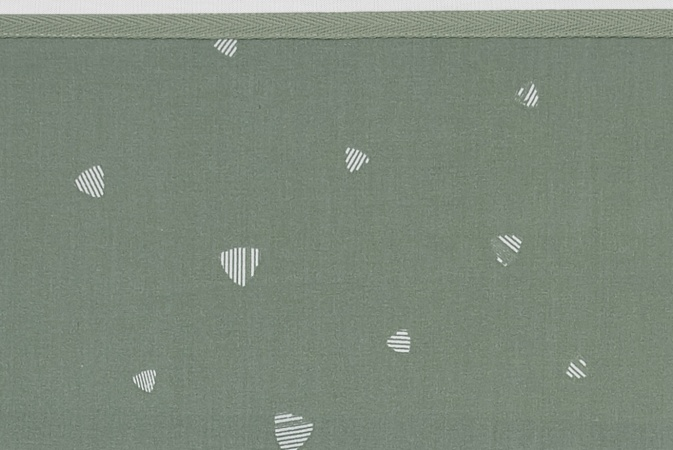 Meyco Ledikantlaken Sweet Triangle Forest Green<br> 100 x 150 cm