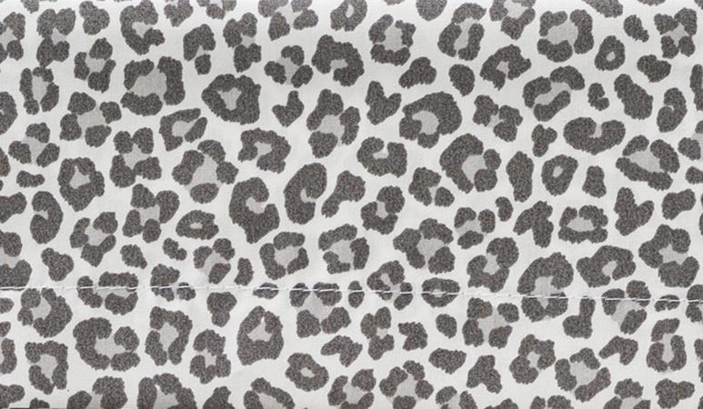 Cottonbaby Wieglaken Panter Grijs<br/ > 75 x 90 cm