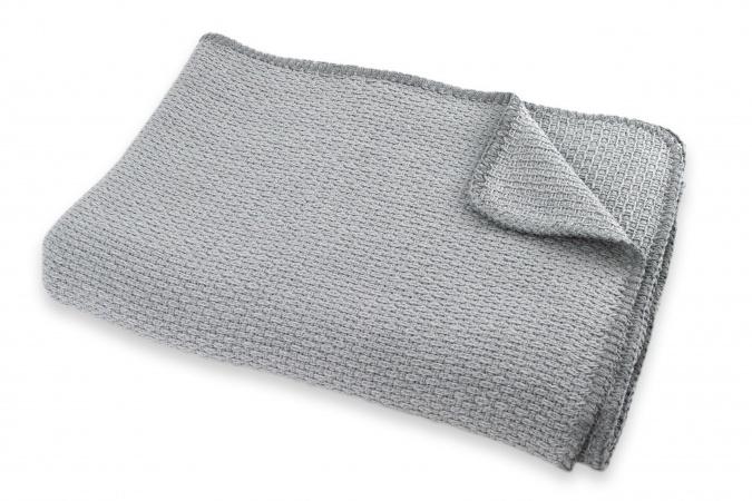 Ledikantdeken Zomer Pique Mid Grey <br >100 x 150 cm